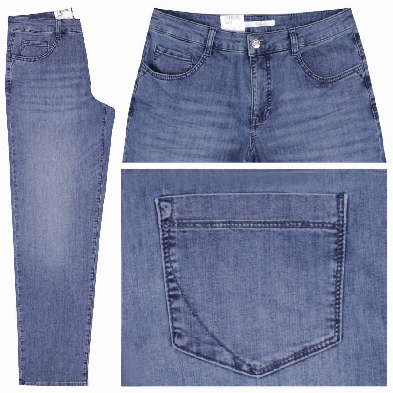 MAC Jeans Damen Hose Feminine Fit GRACIA grautöne