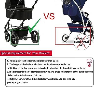 Honhill Mini Buggy Board con asiento Cochecito para el Segundo ni/ño Pedal Auxiliar Conector extra/íble Asiento y montaje rojol