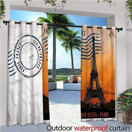 Cortina de privacidad para pergola con diseño de Flores, Aislante térmico, Repelente al Agua, para balcón: Amazon.es: Jardín
