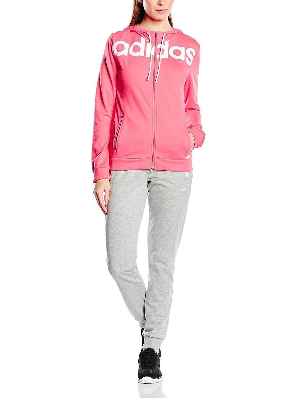 adidas ESS Linear Cott Chándal, Mujer, Rosa/Gris/Blanco, XS ...