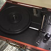 Tocadiscos - Amzdeal Tocadiscos de Vinilo Vintage DJ Bluetooth ...