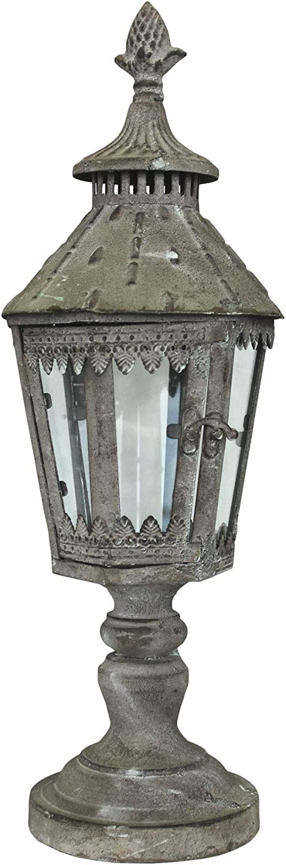 Keyhome - Farol portavelas de Hierro, decoración para la casa, Fiesta de Boda, jardín, diseño - Altura 50 cm