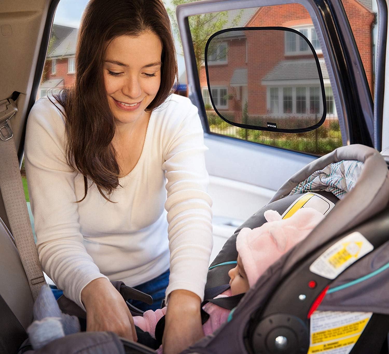 de 44 x 36 cm para ventanas de coche 2 unidades protecci/ón solar deslumbramiento y rayos UV para su hijo Parasol para ventana de coche Parasol para ventana lateral del beb/é
