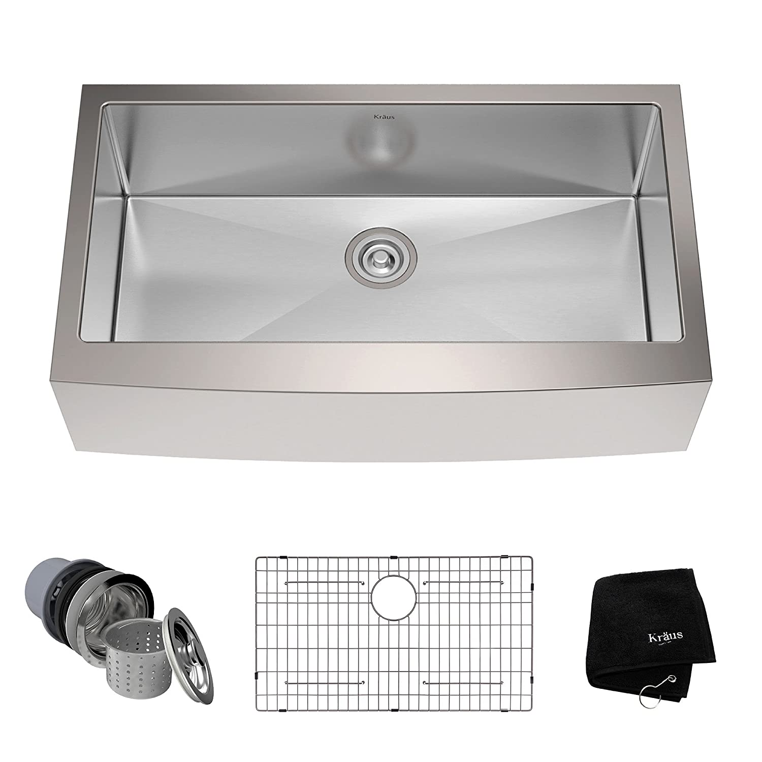 High Quality Kraus KHF200 36 36 Inch Farmhouse Apron Single Bowl 16 Gauge Stainless Steel  Kitchen Sink