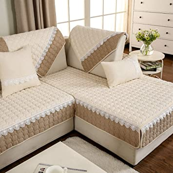 Amazon UK & XIONGDADA Sofa CoverFluid Systems Four Seasons Sofa CushionsSimple ...