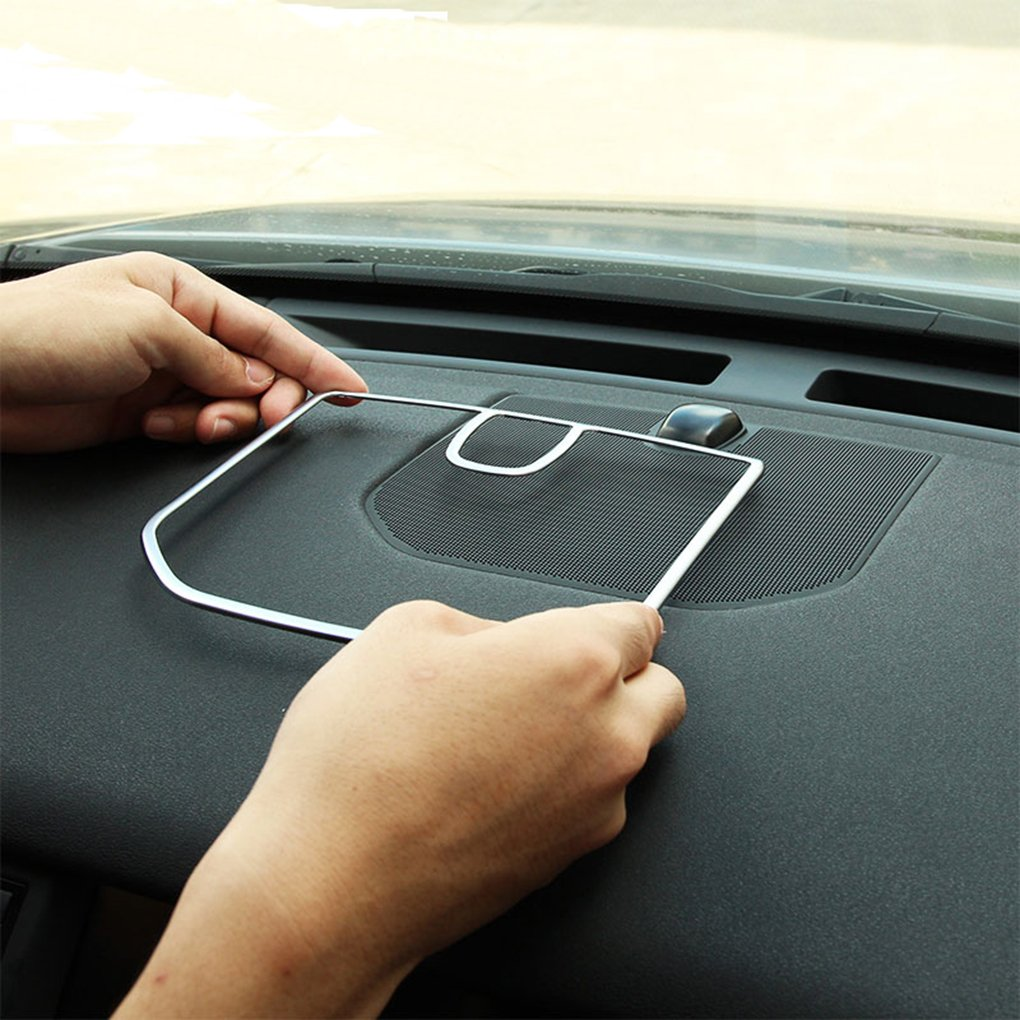 Car Chrome Styling Dashboard Speaker Frame Trim Inside Accessories for 2015-2017 Agodor