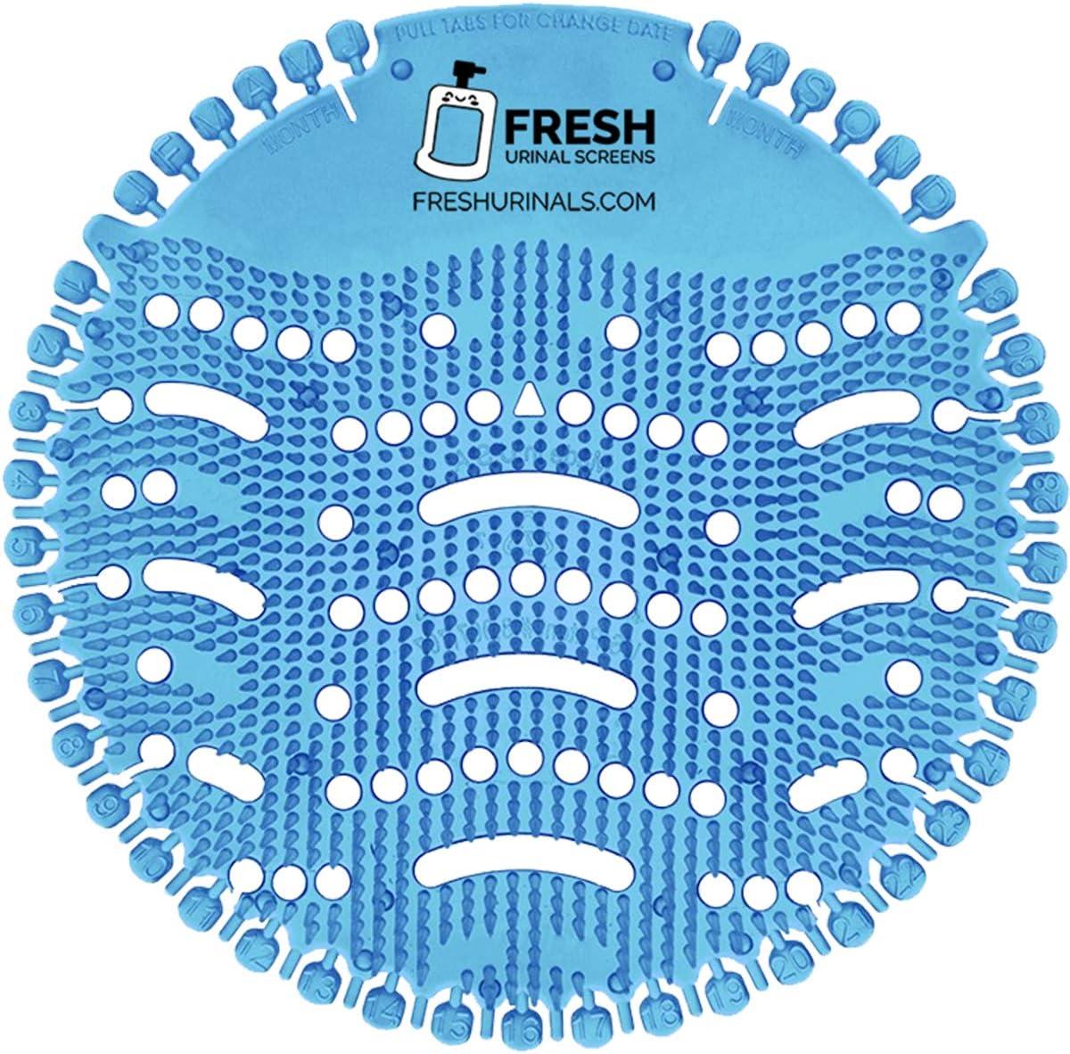 Urinal Screen Deodorizer (10 PACK) - Scent Lasts for Up to 5000 Flushes – Anti-Splash & Odor Neutralizer – Ideal for Bathrooms, Restrooms, Office, Restaurants, Schools – Ocean Mist Fragrance