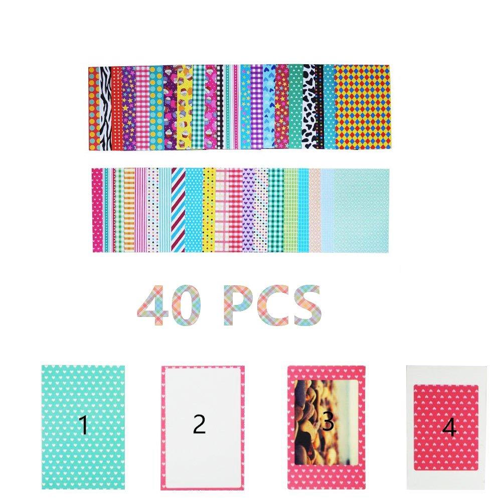 64 Pockets, Blue Z2300 /& SocialMatic Instant Cameras Brppo 2x3 Inch Photo Paper Film Album Set for Fujifilm Instax Mini Camera//HP Sprocket Photo Printer//Polaroid Snap