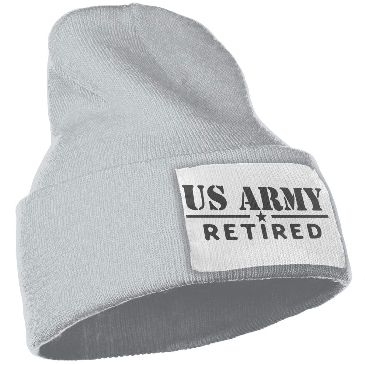 WHOO93@Y Mens Womens 100/% Acrylic Knitting Hat Cap US Retired Army Fashion Skull Beanie
