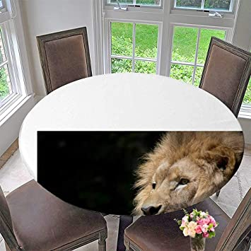 Definition Of Round Table.Amazon Com Luxury Round Table Cloth For Home Use Male Lion S Head