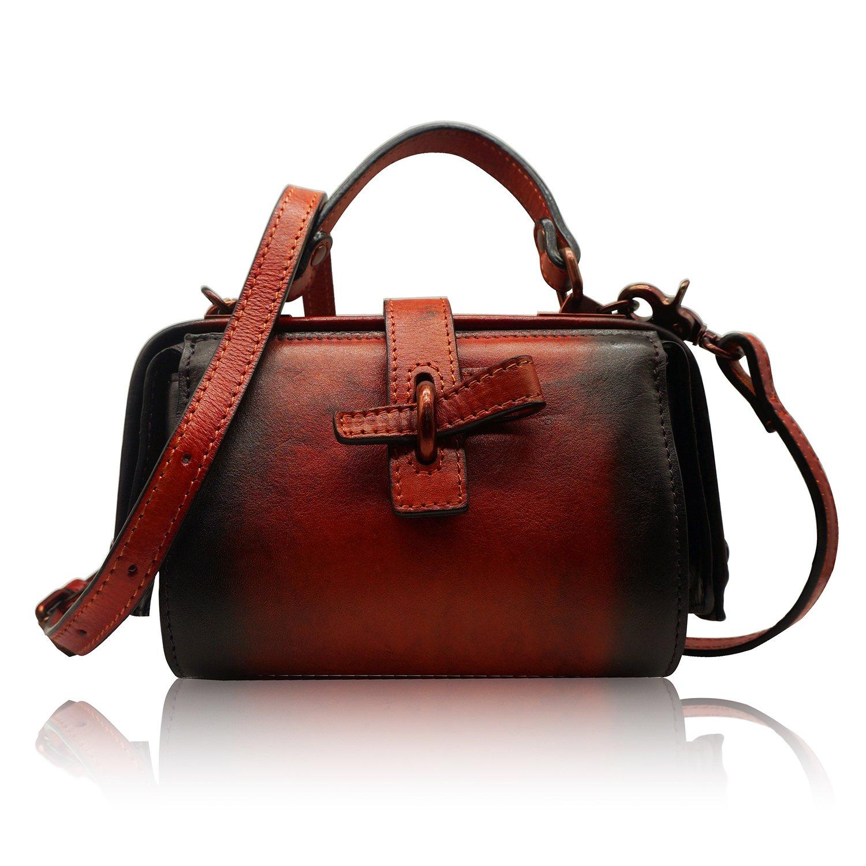 Red Womens Crossbody Bag Handmade Handbag Messenger Bags Top Handle Tote Purses