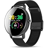 WSZ smartklocka, fitnessspårare för män kvinnor med pulsmätare, stegräknare stoppur sömnmonitor aktivitetsspårare…