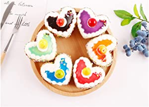 HT 6PCS Big Heart-Shaped Cake Simulation Food Artificial Fake Food Model Play Food Kids Toy Home Kitchen Party Decoration Store Market Display Photography Props, Color Random
