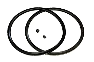 2-Pack of Presto Pressure Cooker Sealing Ring/Gasket & Overpressure Plug (2 Sets per Pack) - Fits Various 6-Quart Presto Models - Corresponds to 09936 - By IMPRESA