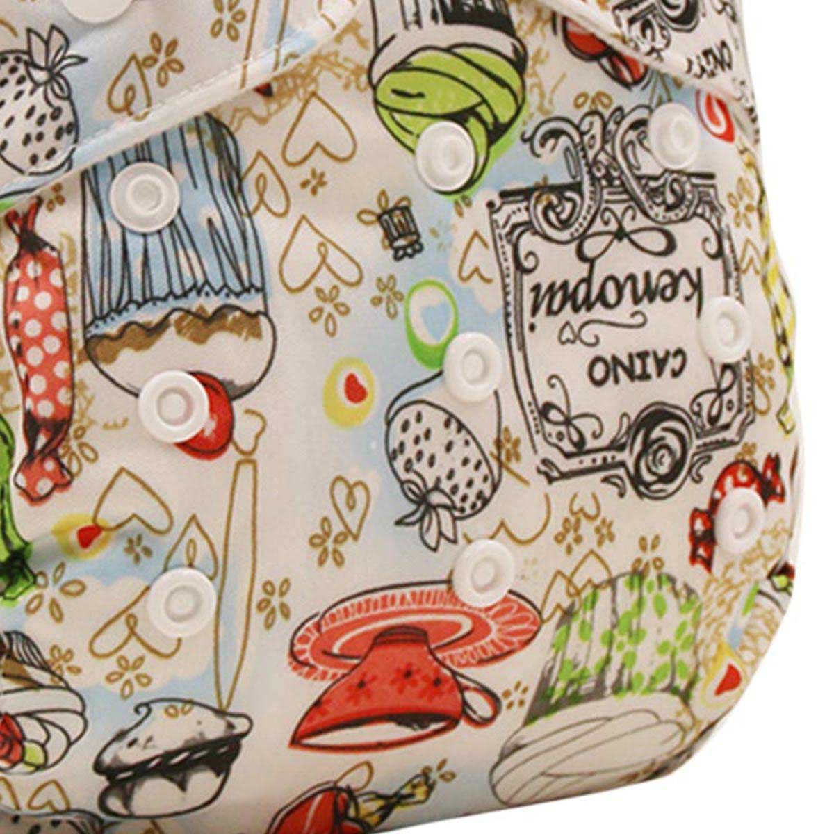 Happy Cherry Baby One Size Cloth Diaper Cover Snap for Prefolds Livestock