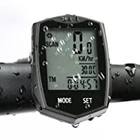 Bike Cycle Computer Wireless Waterproof Cycling Computer Automatic Wake-up Multifunctions Bicycle Speedometer and Odometer with Backlight LCD Screen for Tracking Riding Speed Distance and Time