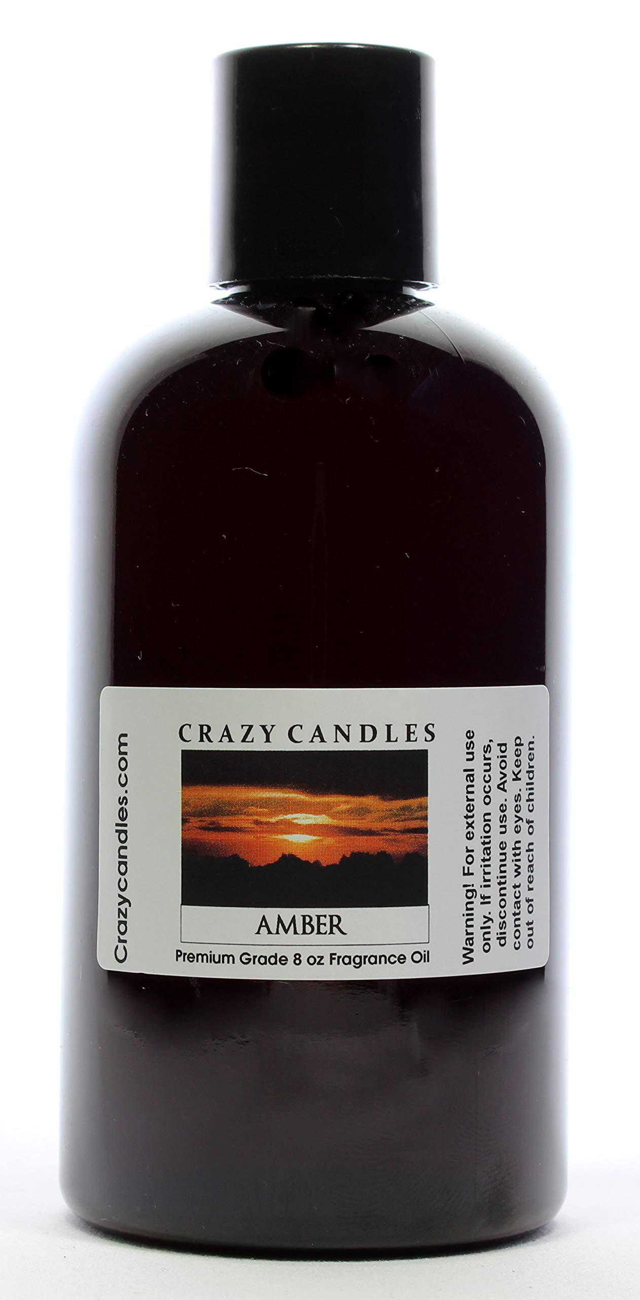 Crazy Candles 8oz Amber 8 Fl Oz Bottle (237ml) Premium Grade Scented Fragrance Oil