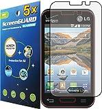 5x LG Optimus Zone II 2 VS415 VS415PP / LG Optimus Fuel L34C Premium Clear LCD Screen Protector Guard Shield Cover Film Kit (Package by Guarmor Brand)