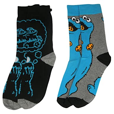 Amazon.com: Officially Licensed Sesame Street Cookie Monster Assorted Socks (2 Pairs): Clothing