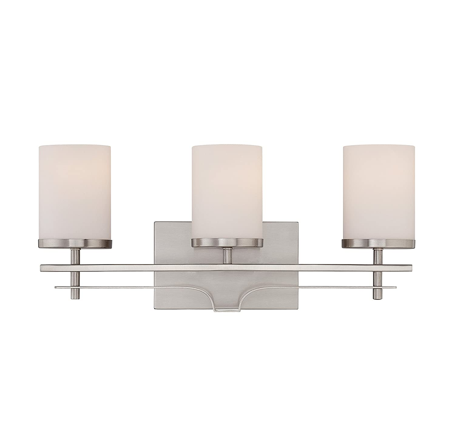 Savoy House 8 338 3 SN Colton 3 Light Vanity Bar In Satin Nickel      Amazon.com