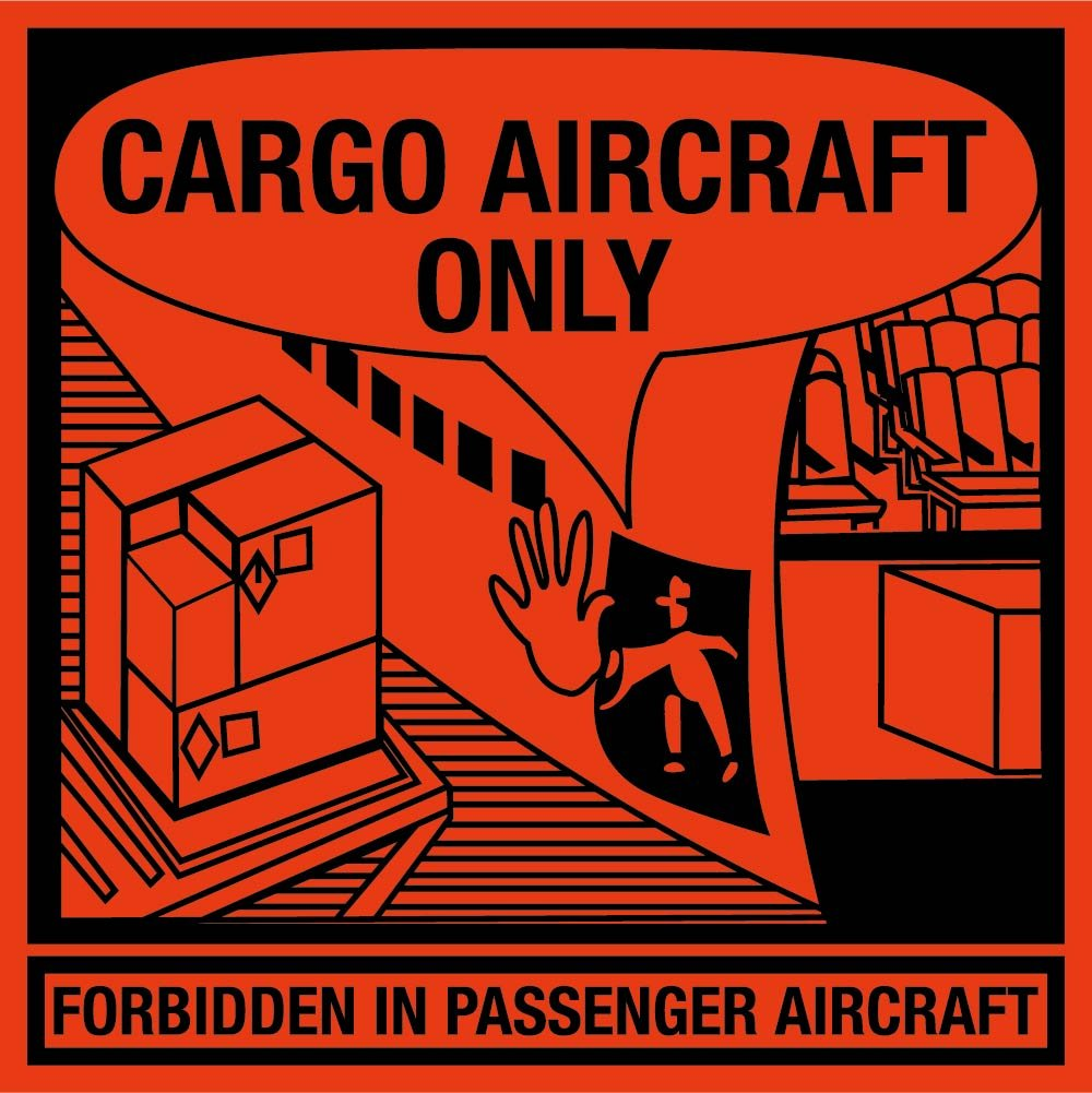 DL58AL National Marker Cargo Aircraft Only Label