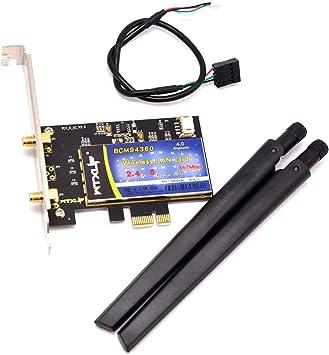 MQUPIN BCM94360CD Tarjeta inalámbrica de escritorio 5G computadora WiFi, Bluetooth 4.0 Dual-band Gigabit PCIE tarjeta de red inalámbrica no necesita ...