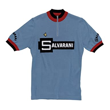 ef93713b7 De Marchi - Heritage Jersey - 1972 Salvarani Mens Short-Sleeve Blue T-Shirt