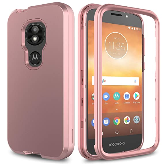 promo code 3ed95 49b9c Moto E5 Cruise Case, Moto E5 Play Case AMENQ 3 in 1 Hybrid Heavy Duty  Shockproof with Rugged Hard PC and TPU Bumper Protective Armor Phone Cover  for ...