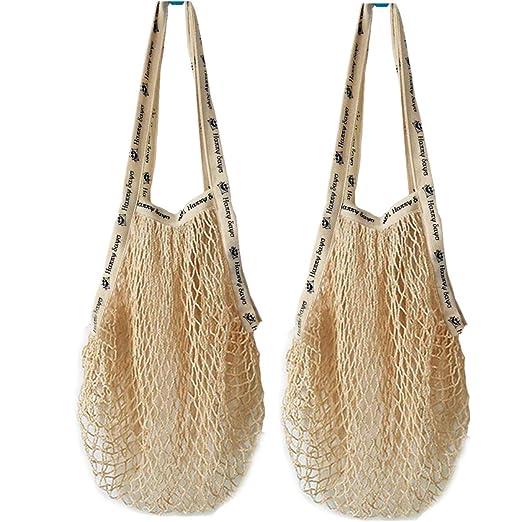 Pack de 2 bolsas grandes de algodón para la compra, bolsas ...