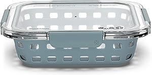 Ello Duraglass Baking Dish, 8x8-2Qt, Polar Grey