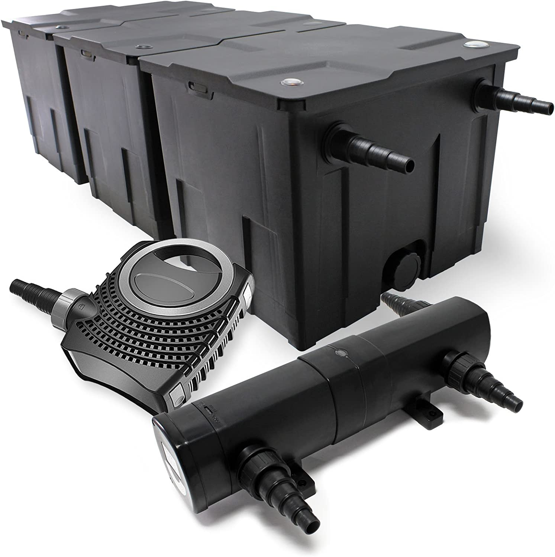 Bio Teichfilter 90000l SuperEco 80W Teichpumpe 24W UVC Teichkl/ärer Set