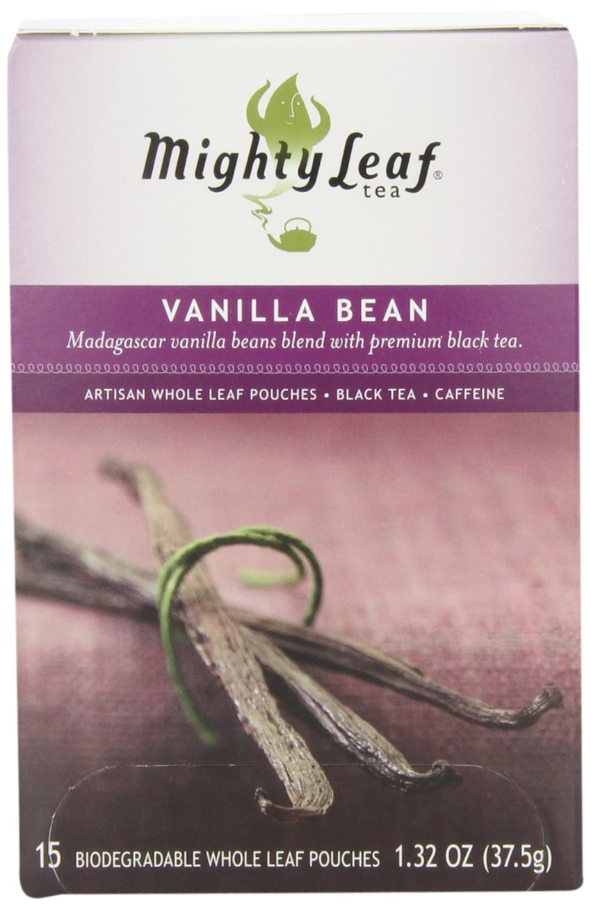 Mighty Leaf Black Tea, Vanilla Bean, 15 Pouches (Pack of 3)