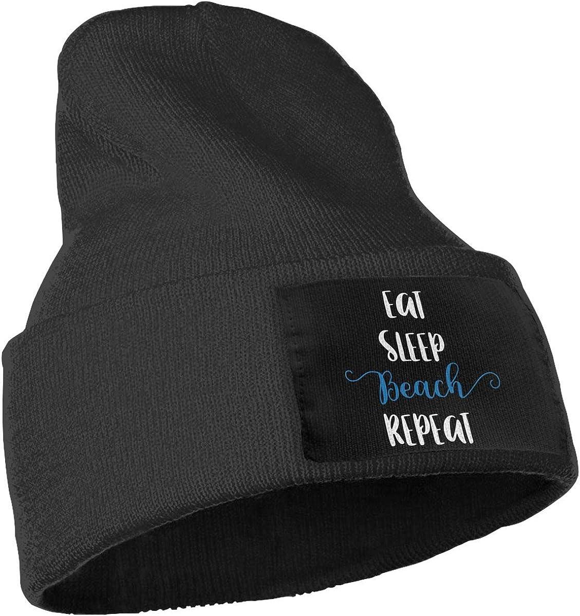 COLLJL-8 Men /& Women Eat Sleep Beach Repeat Outdoor Fashion Knit Beanies Hat Soft Winter Knit Caps
