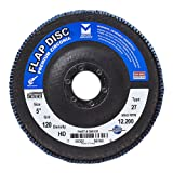 Mercer Industries 266120 Zirconia Flap Disc, High