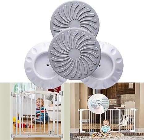 Protector de pared para puerta de presión, protector de pared para puerta de bebé, protección de puerta, escalera, superficie de la pared, seguridad para bebés y mascotas, 4 unidades: Amazon.es: Bebé