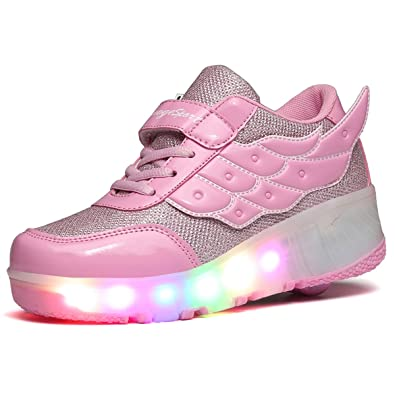 Junge Leuchtend Leuchtet Sohle Mit Skateboard Kischers Turnschuhe Laufschuhe Kinder Sneakers Heelys Mädchen Led Rollen XnP8O0wk