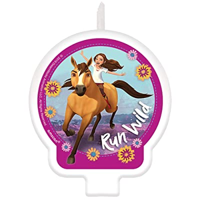 Spirit Riding Free Birthday Cake Character Candle - 1 pc: Toys & Games