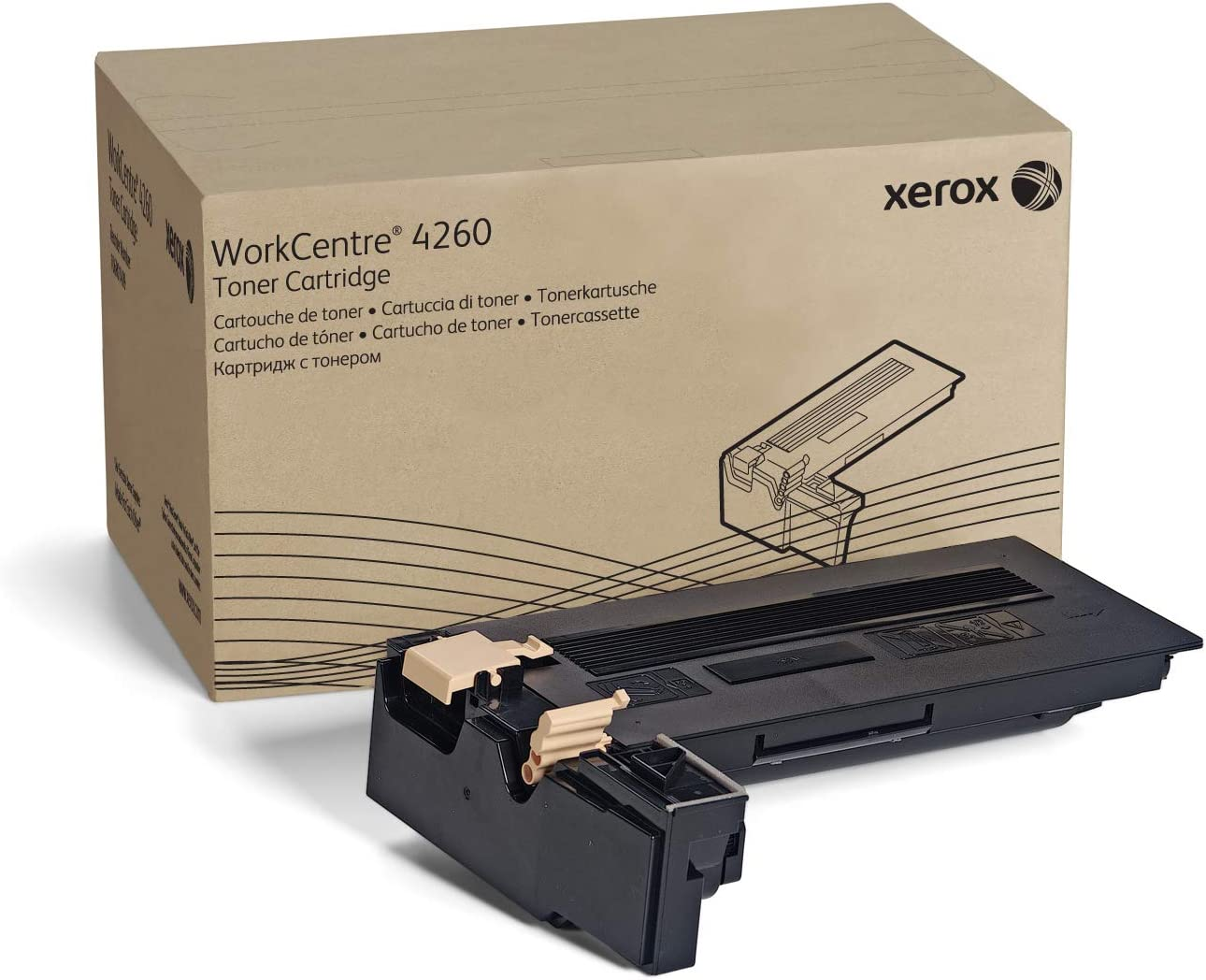 106R02650 GSA Compliant yield 25000 pages Genuine Xerox Black Toner Cartridge for use in WorkCentre 4250//4260