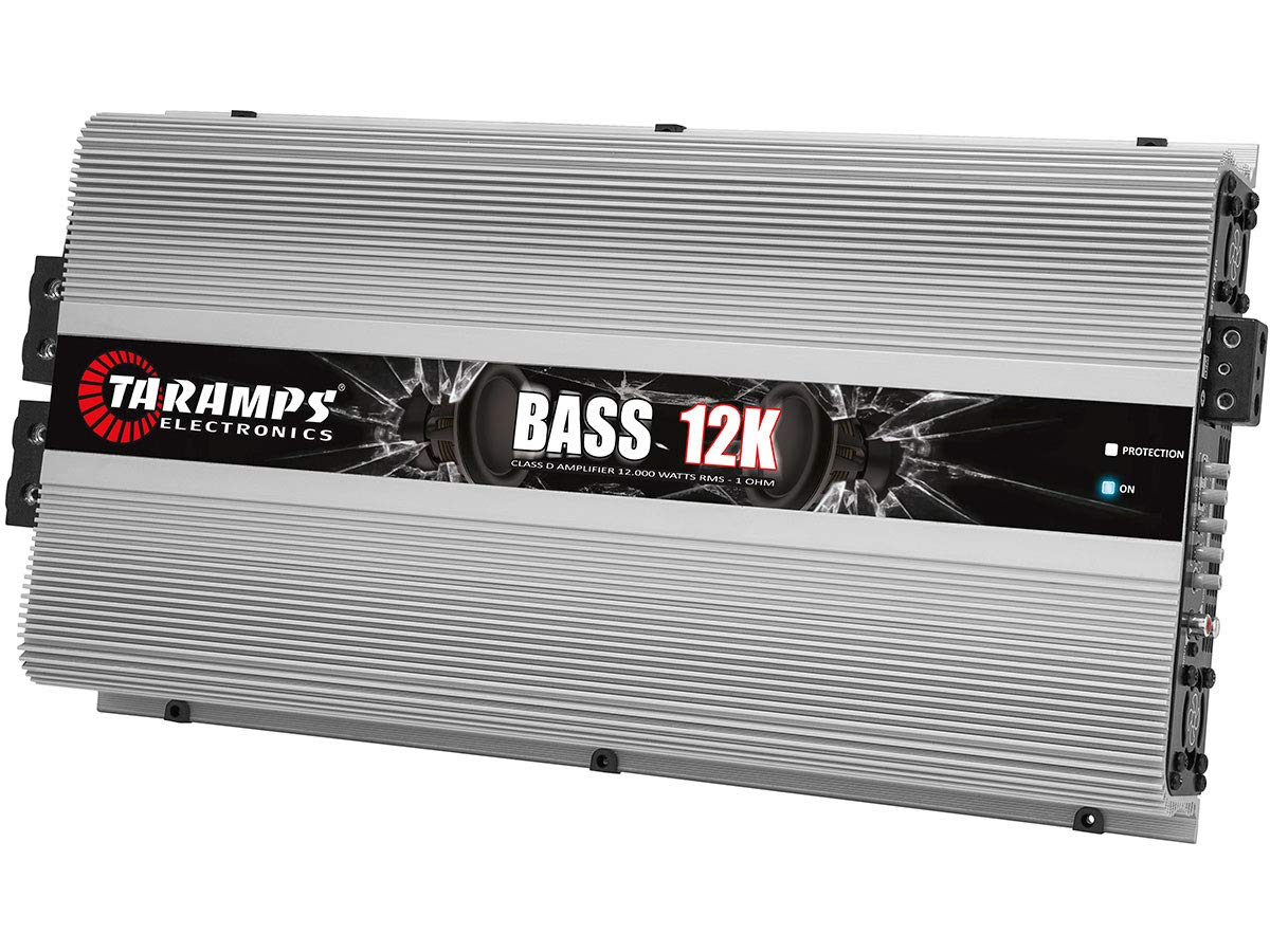Amazon.com: Taramps Bass 12K Bass12K 12000 Watts-RMS Car Amplifier Full Range Monoblock 1-Ohm Stable: Electronics