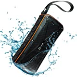 Woozik Active Waterproof Bluetooth Speaker - Dual 8W Drivers, More Bass, IPX7 Rating, Microphone, Power Bank, Micro SD Card Slot, Indoor or Outdoor, Travel Beach Shower Hiking