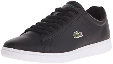 3dcf823bd9b3 Lacoste Men s Carnaby Evo LCR Casual Shoe Fashion Sneaker Black 7.5 ...