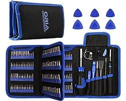 ORIA Jogo de chaves de fenda de precisão (novo) 172 em 1 com 112 bits e 44 bits de 1/4 polegadas, kit de ferramentas de repar