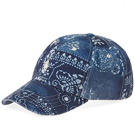 d26db883239a Image Unavailable. Image not available for. Color  Ralph Lauren Polo Co.  Polo Blue Classic Moroccan Tile Chino Baseball Cap