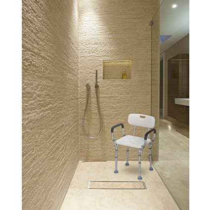 Amazon.com: OasisSpace Heavy Duty Shower Chair with Back - Bathtub ...