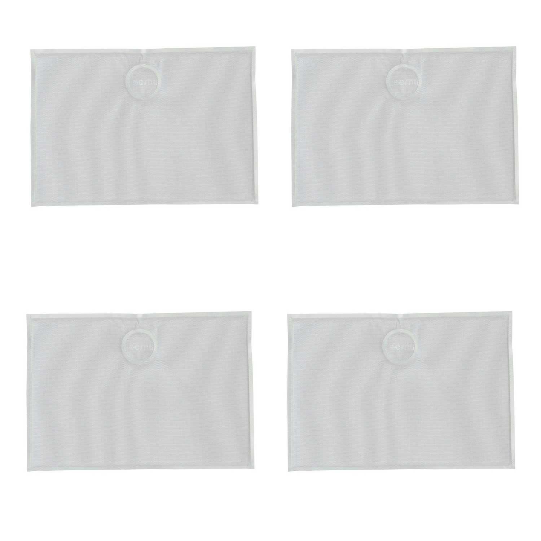 EMU Angebot 4 magnetische Kissen rechteckig für Stühle weiß