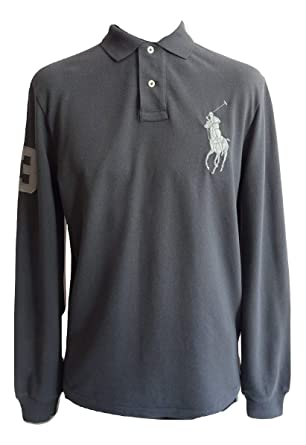 Polo Ralph Lauren 710675993007 Polo Homme Gris L  Amazon.fr  Vêtements et  accessoires 04a590c8ddc