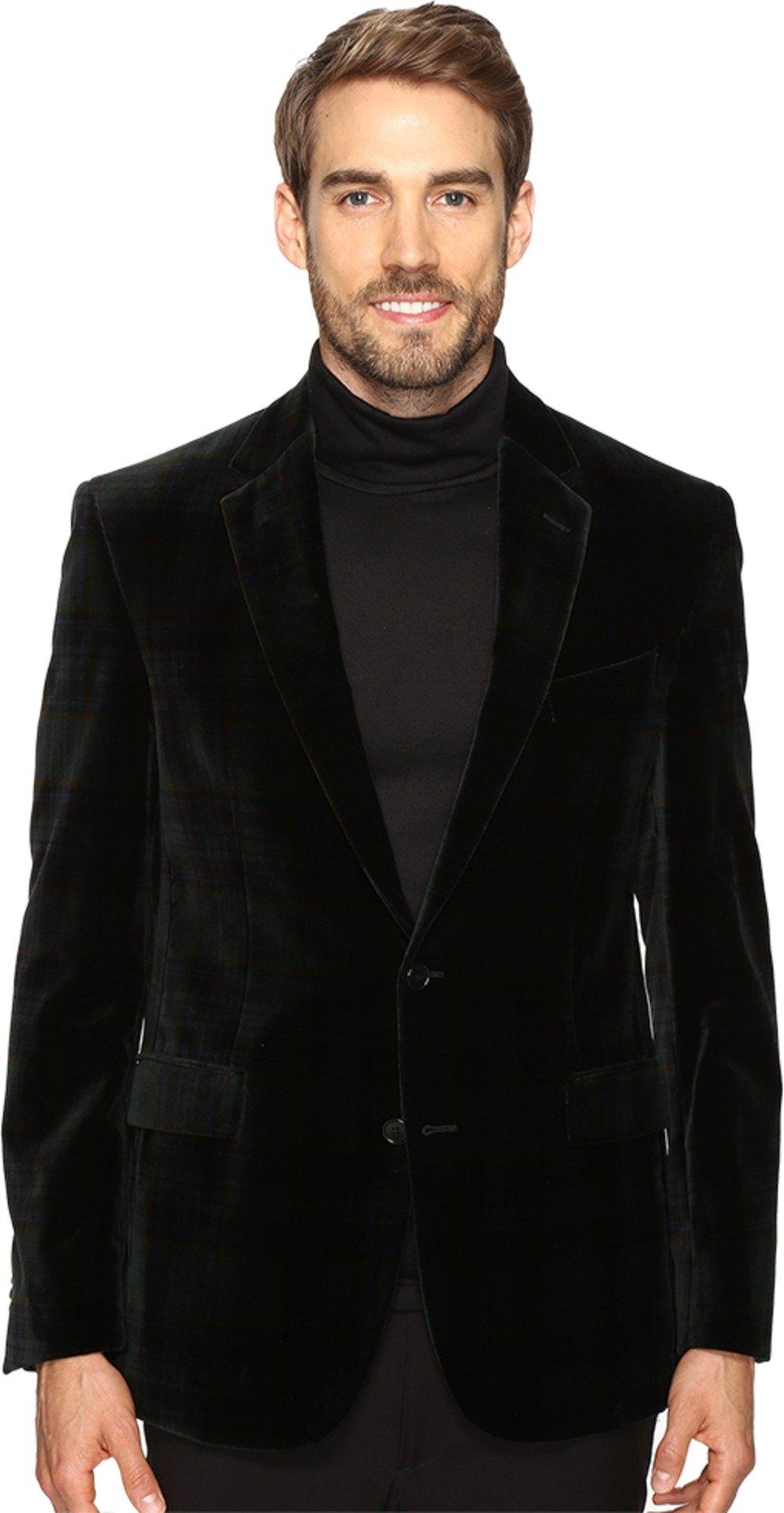 Kenneth Cole New York Men's Slim Fit Velvet Sport Coat Black 38 Regular