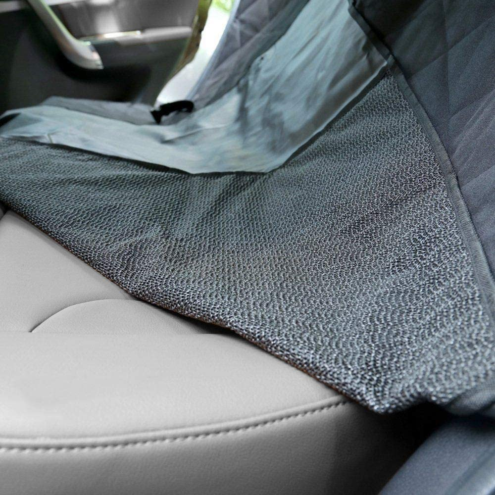 Non-Slip Chameleon Dog Hammock Car Seat Cover Universal Size with 2 Dog Seat Belts Waterproof Protector for Pet