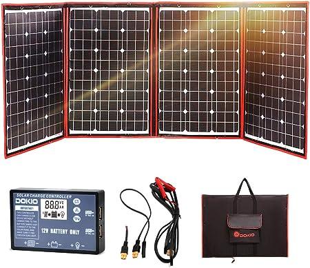 DOKIO 200w 折りたたみ式 単結晶 ソーラーパネル/太陽光パネル 12v