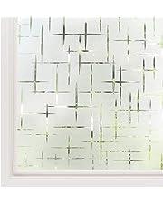 rabbitgoo Pellicole per Finestre Vetro-3D Croce,Non-Adesiva,Statica,Privacy